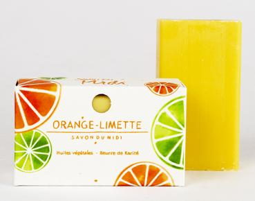 Karité-Seife Orange-Limette · 100g